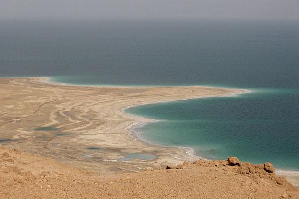 Blick über das  Tote Meer