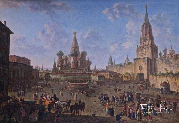 Der Rote Platz in Moskau - Werkst. Alexejew in der Tretjakow Galerie