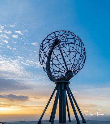 Der Globus ist eine Skulptur auf dem Nordkapplateau in Norwegen und das Wahrzeichen des Nordkaps.