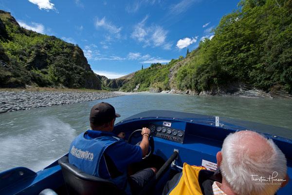 Speedboat und Scenic Drive im Skipper Canyon
