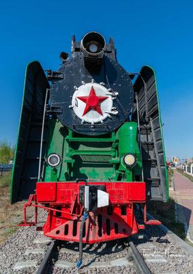 Dampflok N36a in dem Eisenbahn Museum von Mongolei in Ulaanbaatar