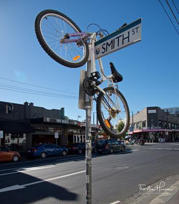 Fahrradstellplatz in St. Kilda