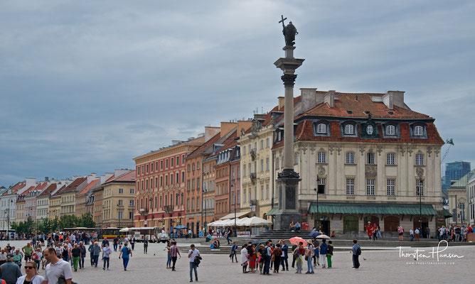 Schlossplatz in Warschau mit Sigismundssäule
