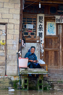 Tianlong Dorf,  das einzige Dorf in China, in dem die Lebensgewohnheiten aus der Ming-Zeit (1368-1644) noch deutlich spürbar sind.