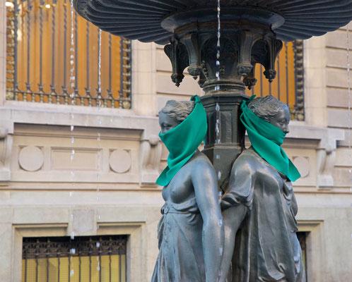Demonstration für die Gleichberechtigung in Chile