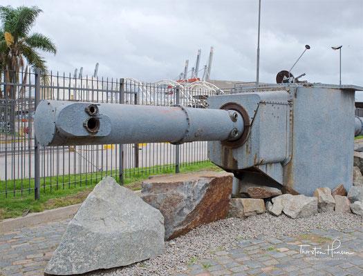 Geborgener Entfernungsmesser der Admiral Graf Spee in Montevideo