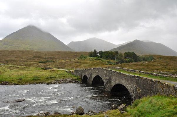 Brücke in Sligachan auf Skye