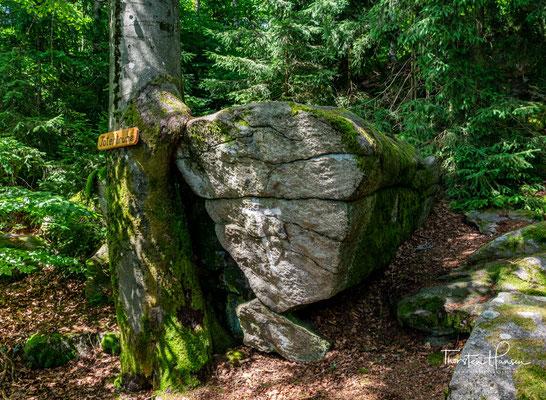 "Gesteinsformation ""Totenruhe"" in Schwarzwihrberg"