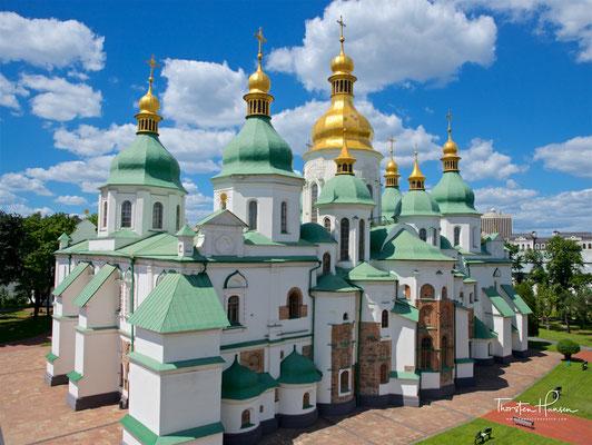 Die Sophienkathedrale (Софійський собор) in Kiew, gilt als eines der herausragendsten Bauwerke europäisch-christlicher Kultur.