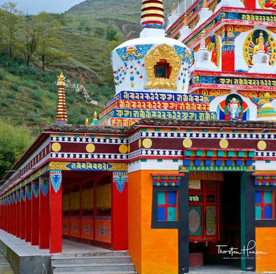 Wutong Kloster, eines der berühmtesten tibetischen Klöstern in China