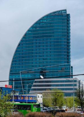 Der Blue Sky wurde 2009 eingeweiht, heute befinden sich dort Büros, Wohnungen, Restaurants und ein Luxus Hotel.