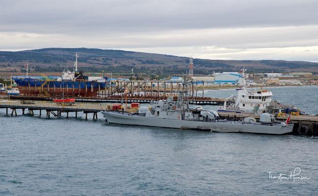 Ankunft im Hafen von Punta Arenas