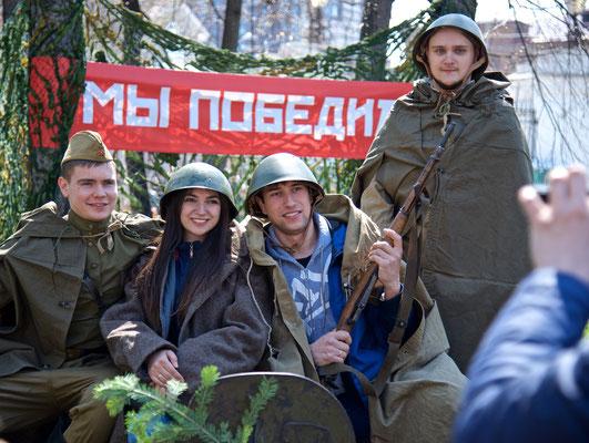 9. Mai Tag des Sieges in Jekatarinburg