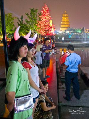 Fontänen-Licht-Show in Xi'an