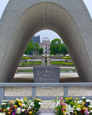 Kenotaph vor dem Friedensmuseum Hiroshima