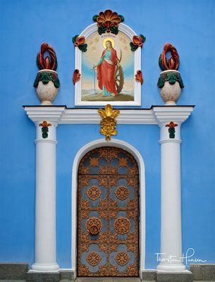 Seitdem gilt der Erzengel Michael als Schutzpatron der Stadt Kiew.