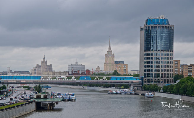 Blick über die Moskva