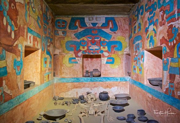 Reproduktion von Grab 105 in Monte Albán