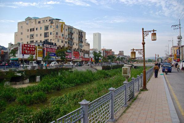 Typische koreanische Stadtansichten
