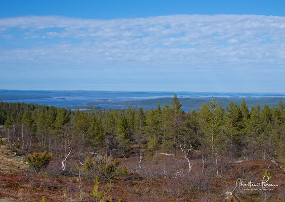 Blick auf den Imari See in Lappland