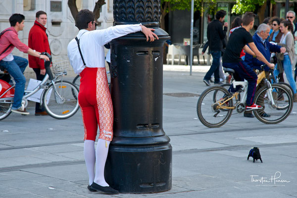 Ein mutiger Torero in Sevilla