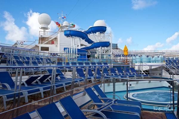 Üblicherweise gibt es eine 8-Tages-Route mit Anläufen in Grand Turk, La Romana, Bonaire bzw. Curaçao und Aruba sowie eine 6-Tages-Route mit den Zielen Amber Cove, Grand Turk sowie der Carnival-Privatinsel Half Moon Cay auf den Bahamas.