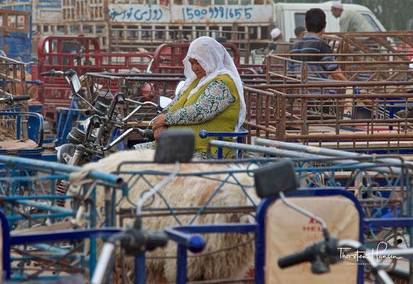 Der berühmte Viehmarkt von Kashgar