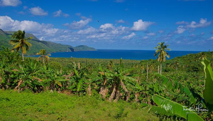 Blick auf die Playa Rincon auf der Halbinsel Samaná