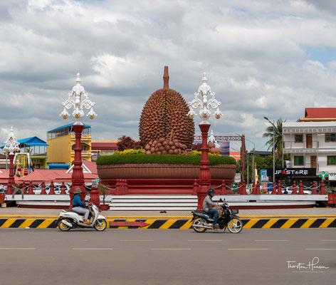 """Kampot ist Hauptanbaugebiet für die Durian Frucht - der """"Königin der Früchte"""""""