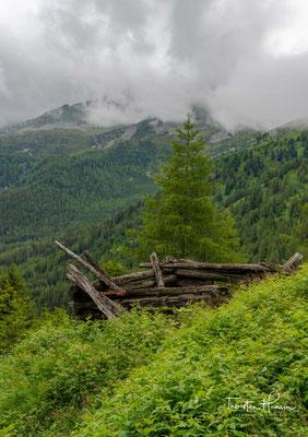 Verfallene Heuschober auf den Weg ins Gliderbachtal - Unterberg-Hütten auch Wiener Neustadt genannt