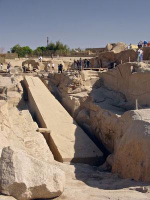 Unvolländerter Obelisk in Assuan