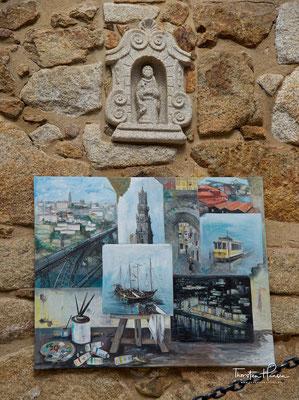 Kunst in dem Forte de São Francisco Xavier in Porto