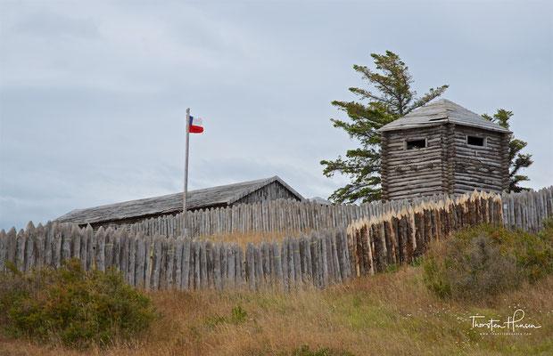 Fuerte Bulnes ist eine chilenische Festung an der Magellanstraße, 62 km südlich von Punta Arenas.
