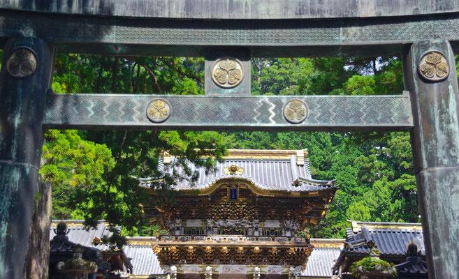 Torii Tor mit Sunset Gate in Nikko