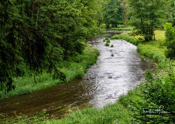 Die Pfreimd schlängelt sich mit insgesamt 76 km beginnend von Tschechien bis zur gleichnamigen Stadt Pfreimd durch den Oberpfälzer Wald.
