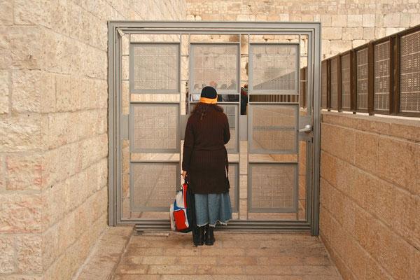 Frauenbereich an der Klagemauer