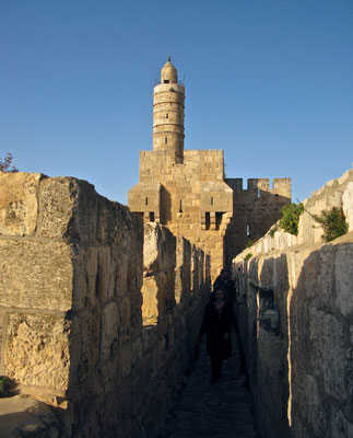 Die Davidszitadelle von Nordwesten