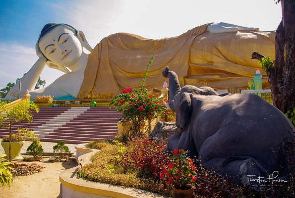 Shwethalyaung Buddha - der liegende Buddha von Bago