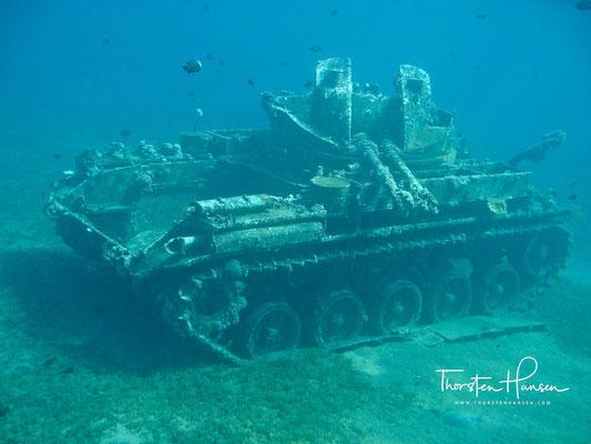 Tauchgang Cedar Pride und Panzer in Aqaba