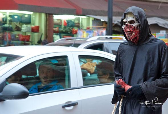 Dias de Muerte in Mexico Stadt