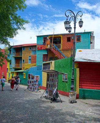 Die bunten Wellblechhäuser von La Boca