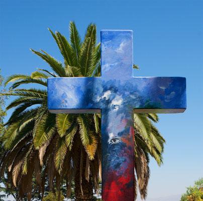 Der Hügel erhebt sich bis auf 880 m und rund 300 m über seine Grundfläche und dominiert das Stadtbild von Santiago. Sein alter Name war Tupawe, er wurde von den spanischen Eroberern nach dem Heiligen Christophorus umbenannt.
