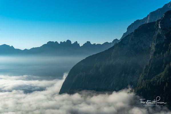 Ein letzter Blick in die Berge...