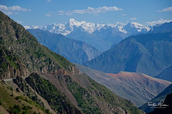 Blick über das Pamir Gebirge