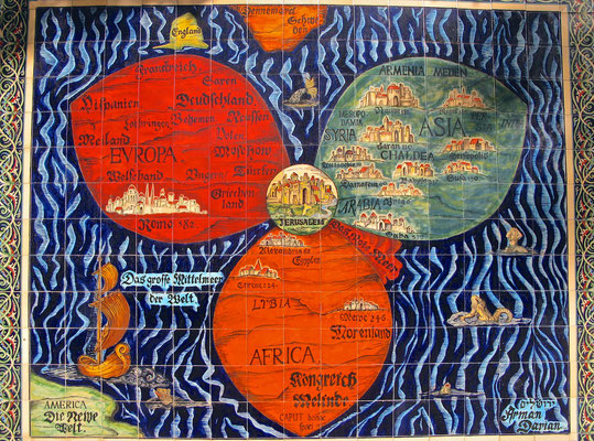Alte Landkarte von Jerusalem