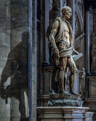 Statue des gehäuteten heiligen Bartholomäus von Marco d'Agrate aus dem Jahr 1562.