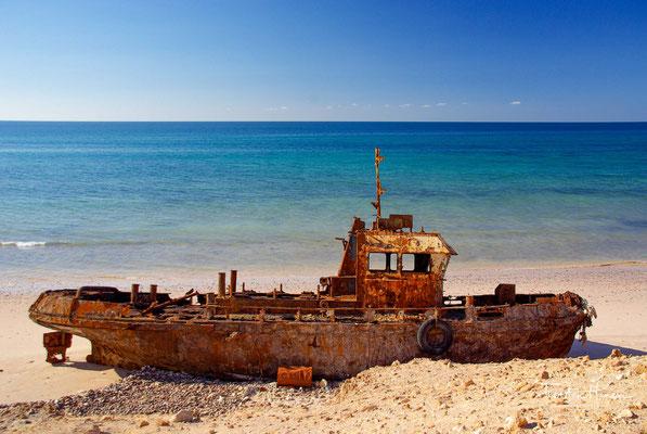 Schiffswrack auf Sokotra