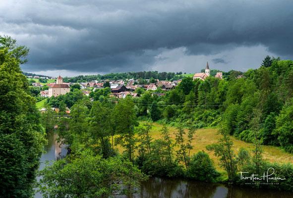 Blick auf den Ort Trausnitz