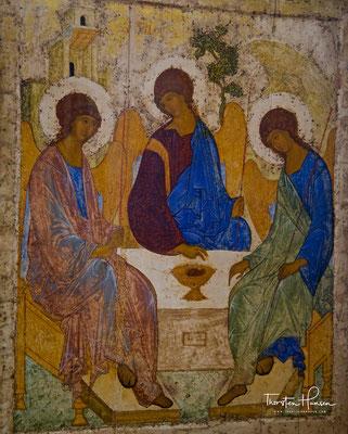 Dreifaltigkeitsikone von Andrej Rubljow in der Tretjakow Galerie