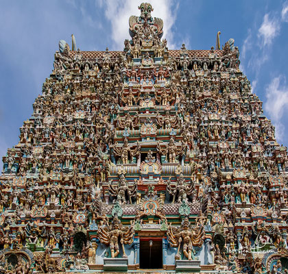 Der im Wesentlichen während der Nayak-Zeit im 15. bis 17. Jahrhundert erbaute Tempel ist ein herausragendes Beispiel für die dravidische Tempelarchitektur.